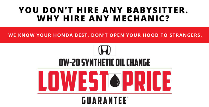 OW-20 Synthetic Oil Change Lowest Price Guarantee
