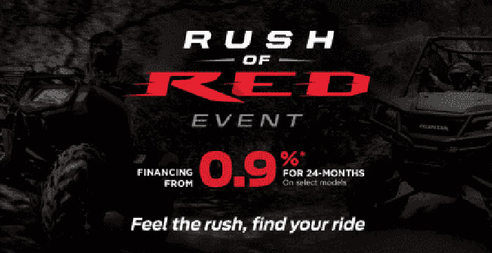 Rush of Red Event ATVs
