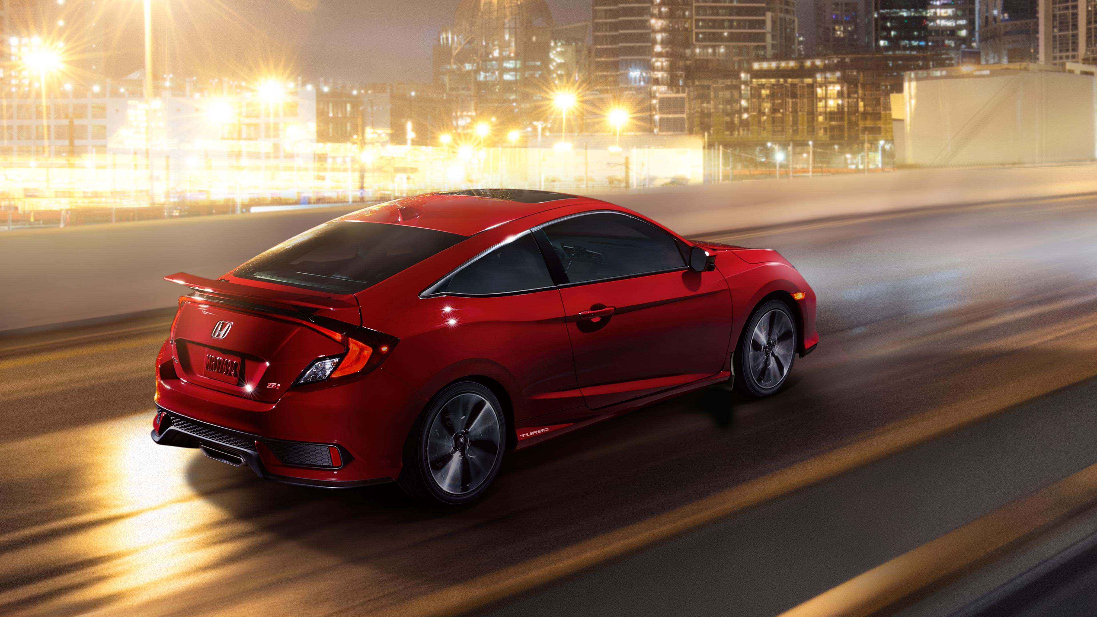 Civic Coupe Si driving at night