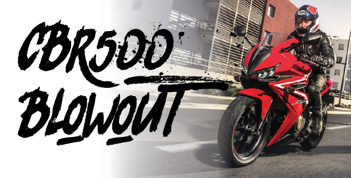 CBR500 Sale On Now!