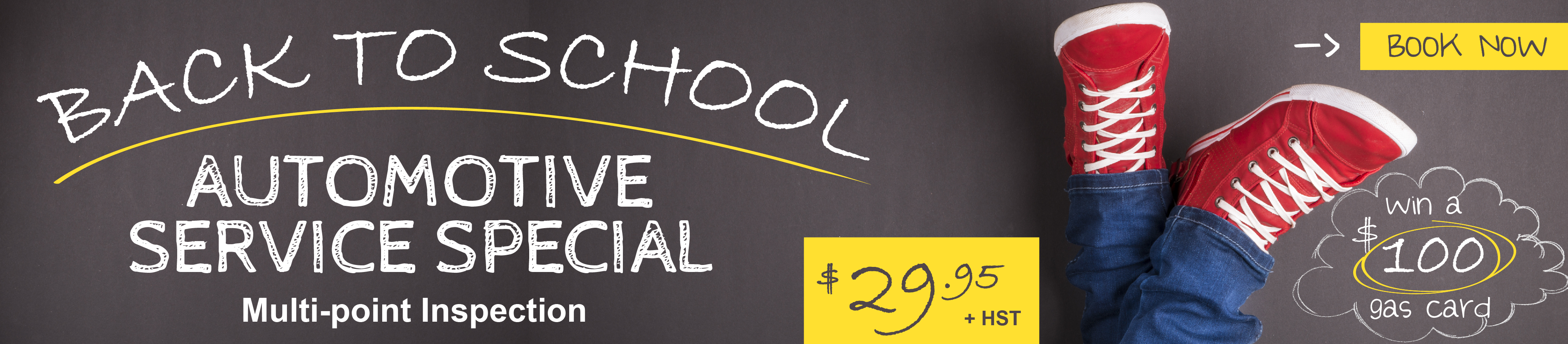 back to school automotive service special multi-point inspection