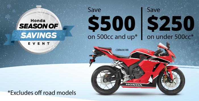 Season of Savings December Motorcycle Special