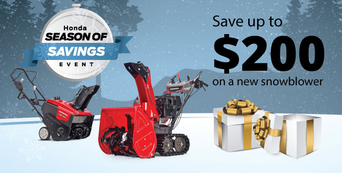 Season of Savings Snowblower Special