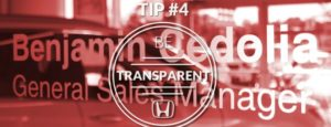 TIP 4 Be Transparent
