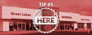 TIP #5 Bring it here