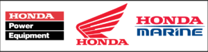 Honda Power Equipment, Honda Powersports, Honda Marine logos
