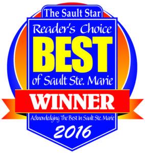 The Sault Star Readers Choice Best of Sault Ste. Marie Winner 2016
