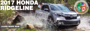 2017 Honda Ridgeline North America Truck/Utility of the Year