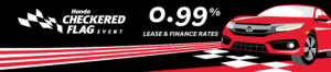 finance rates starting at 0.99 checkered flag Honda sales event