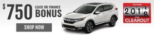 Honda Clearout 2017 Honda CRV