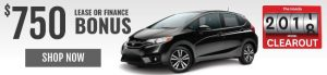 2017 HONDA CLEAROUT FIT $750 LEASE OR FINANCE BONUS