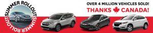 4 million vehicles sold sale Honda August 2017