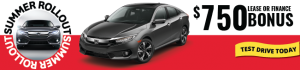 2017 Honda Civic Sale August Roll Out