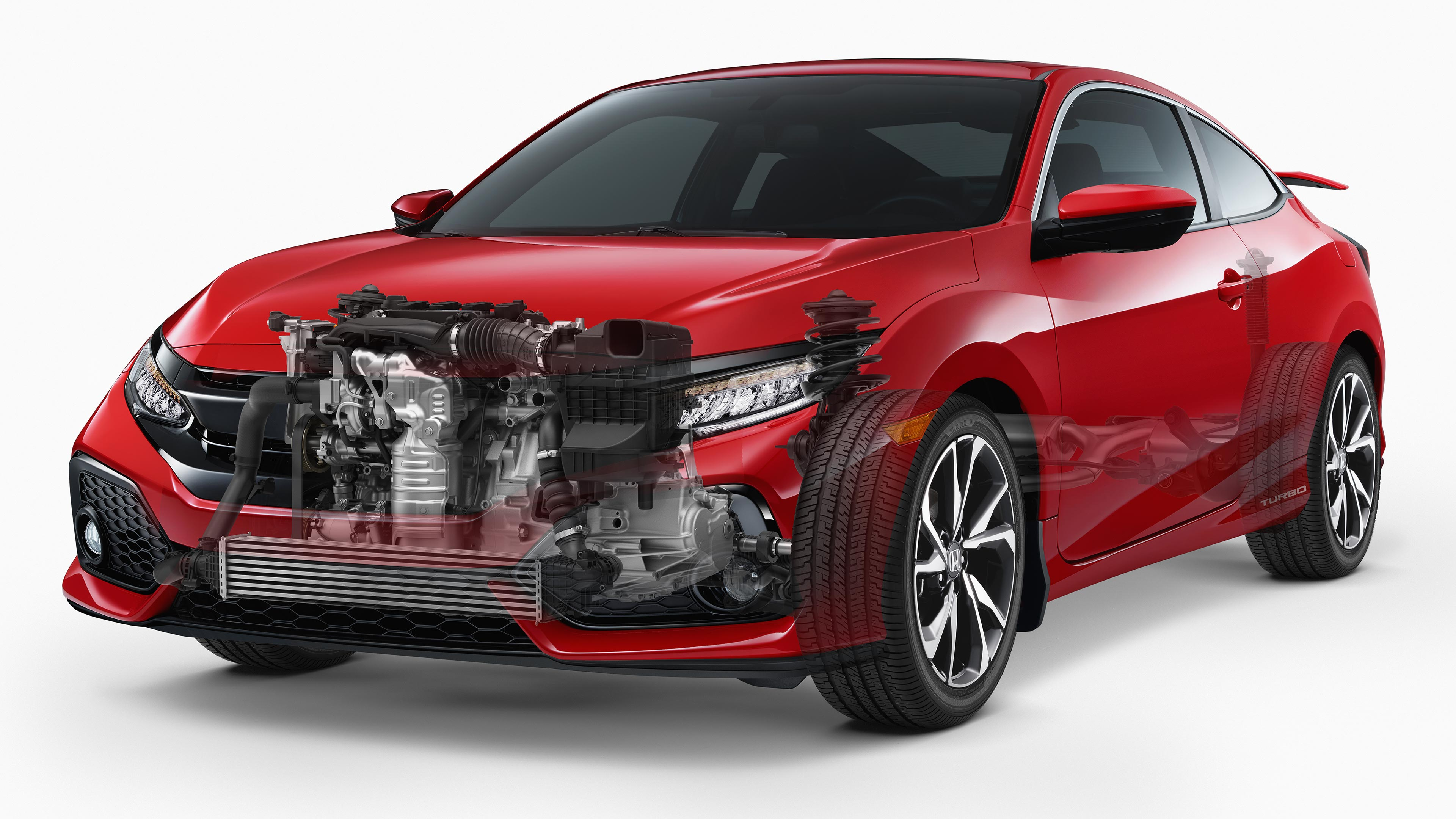 Civic Coupe Si Engine view