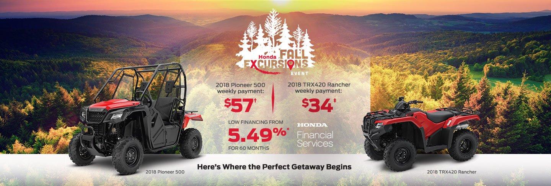 Fall Excursions ATV & SXS Specials