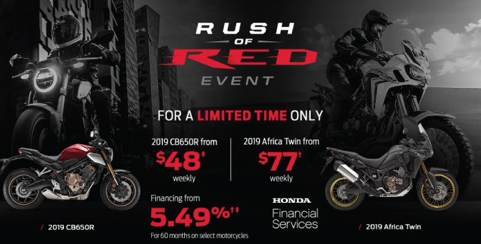 Rush of Red Event – Motorcycles