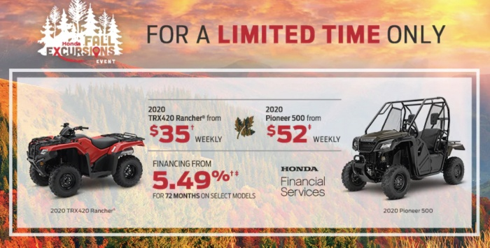 Fall Excursions ATV & SXS Specials