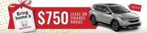$750 lease or finance bonus on 2019 CR-V