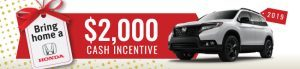 $2000 cash incentive on 2019 Passport
