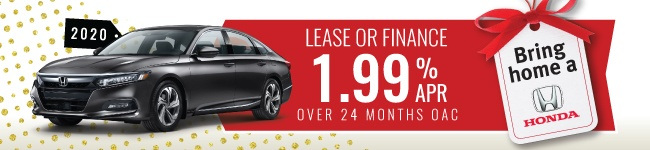 ACCORD 2020 Lease and finance 1.99% APR 24 months oac