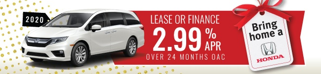 ODYSSEY 2020 Lease and finance 2.99% APR 24 months oac
