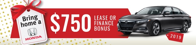 $750 Lease or finance bonus on 2019 Accords